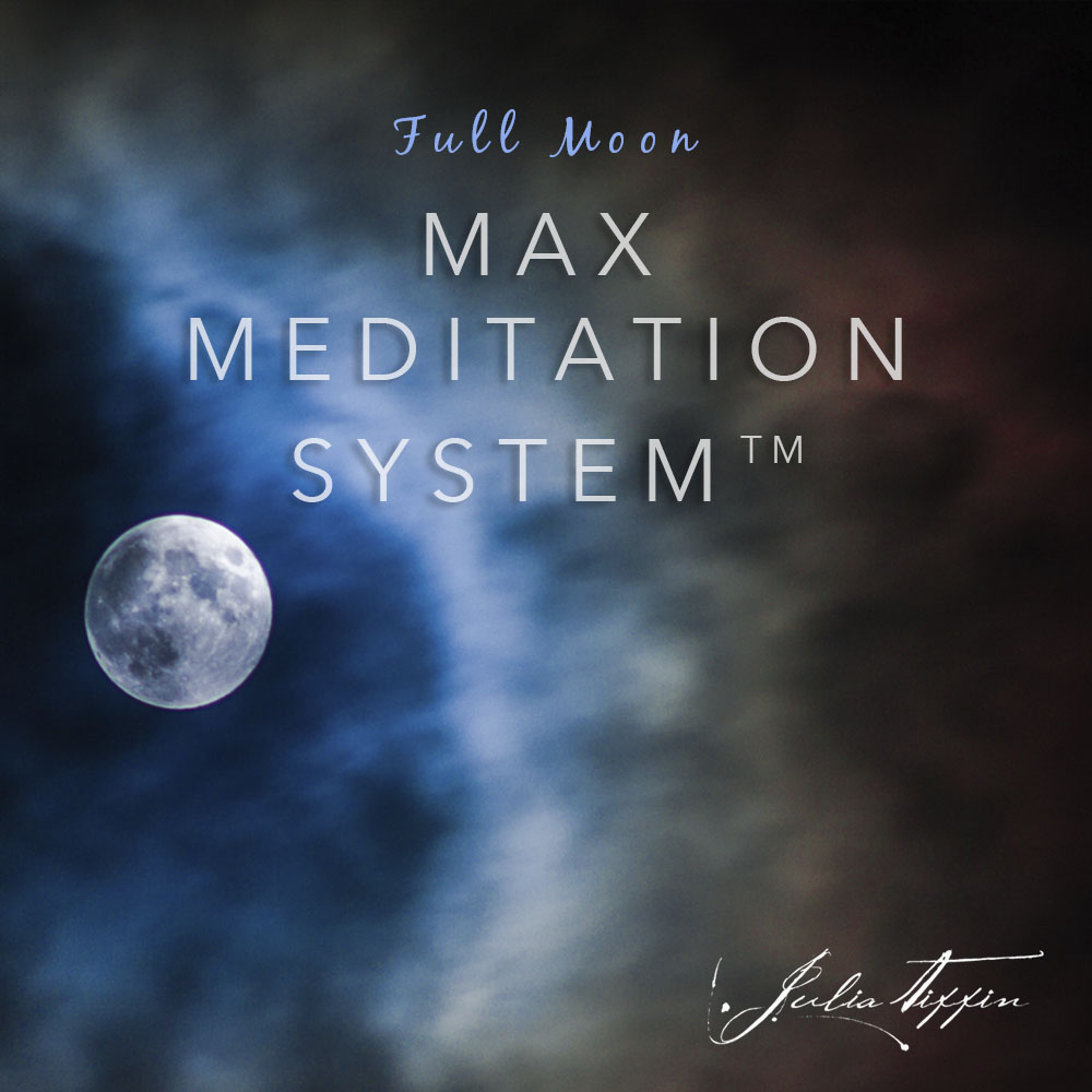 Full Moon Max Meditation System™ ONLINE @ Zoom online. RSVP for link latest 30mins before start of meditation. Doors open 15mins before meditation.