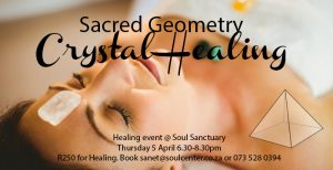 Sacred Geometry Group Crystal Healing Event @ Soul (1st Floor, The Royal Albert Building) | Cape Town | Western Cape | South Africa